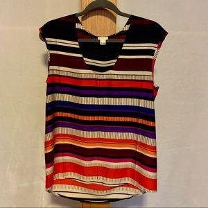 J. Crew | Colorful sleeveless shirt | Size 8